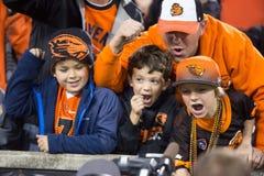 L'état de l'Orégon Beavers des fans devenant sauvage photographie stock libre de droits