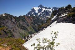 L'état de Washington de Shuksan de support de zones de neige Images libres de droits