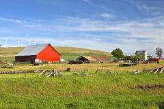 L'état de Washington Oriental de ferme de pays. Photographie stock