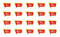 L'étiquette moderne de vente et de prix discount a placé des insignes de promotion de vecteur marquent le calibre de conceptions illustration de vecteur