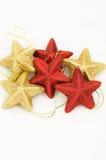 L'étoile aiment des ornements de Noël Image libre de droits