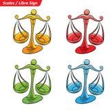L'étoile colorée de zodiaque de Balance signe le croquis illustration stock