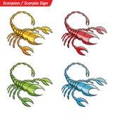 L'étoile colorée de zodiaque de Scorpion signe le croquis illustration de vecteur