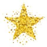 L'étoile d'or a éclaté le modèle étoilé illustration de vecteur