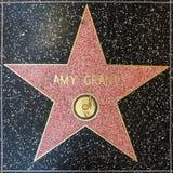 L'étoile d'Amy Grant sur la promenade de Hollywood de la renommée Photos stock