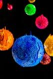 L'étoile dans l'univers espace lointain d'encre de plastisol Images libres de droits