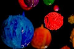 L'étoile dans l'univers espace lointain d'encre de plastisol Images stock