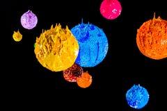 L'étoile dans l'univers espace lointain d'encre de plastisol Photographie stock
