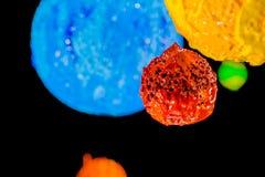 L'étoile dans l'univers espace lointain d'encre de plastisol Photo libre de droits