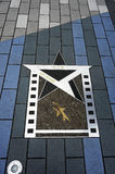 L'étoile de Bruce Lee sur l'avenue des étoiles Promenade dans Kowloon photos libres de droits
