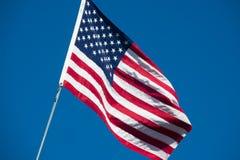 L'étoile de drapeau des Etats-Unis d'Amérique a orné les étoiles et le streptocoque de paillettes de bannière Photo libre de droits