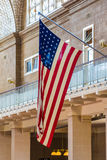 L'étoile de drapeau des Etats-Unis d'Amérique a orné les étoiles et le streptocoque de paillettes de bannière Photo stock