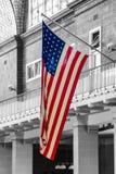 L'étoile de drapeau des Etats-Unis d'Amérique a orné les étoiles et le streptocoque de paillettes de bannière images libres de droits
