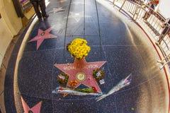 L'étoile de Michael Jackson sur la promenade de Hollywood de la renommée Photographie stock