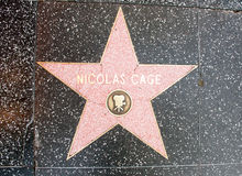 L'étoile de Nicolas Cage Images stock