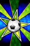 L'étoile du football a éclaté le vert Images stock