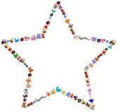 L'étoile joue le cadre illustration stock