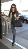 L'étoile Khloe Kardashian de réalité est vue chez LAX photo stock