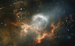 L'étoile lumineuse au centre de la nébuleuse Photographie stock