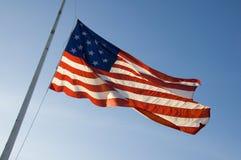 L'étoile a orné le drapeau de paillettes Photos stock