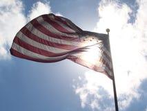 L'étoile a orné le drapeau de paillettes Image libre de droits