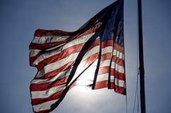 L'étoile a orné le drapeau de paillettes Images libres de droits