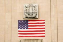 L'étoile a orné le drapeau de paillettes Photographie stock