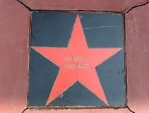 """L'étoile temps de musical des """"ne font pas les choose au cinéma """"Russie """"sur la place de Pushkin à Moscou photographie stock"""