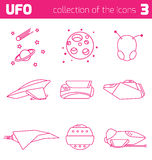 L'étranger d'UFO embarque la partie trois d'icône Photos libres de droits