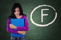 L'étudiant échoué obtiennent le mauvais score Images libres de droits