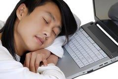 L'étudiant et l'ordinateur portatif Image libre de droits