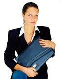 L'étudiant - jeune femme dans le costume noir. Photographie stock libre de droits