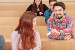 L'étudiant passe une note Image libre de droits