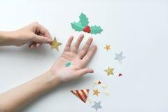 L'événement de Joyeux Noël de fête célèbrent le concept de vacances Photo libre de droits
