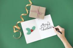 L'événement de Joyeux Noël de fête célèbrent le concept de vacances Photos libres de droits