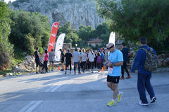 L'événement de puma courent le lac - Athènes, Grèce photo libre de droits