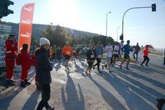 L'événement de puma courent le lac - Athènes, Grèce Images stock