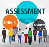 L'évaluation de calcul d'évaluation évaluent le concept de mesure Photographie stock libre de droits