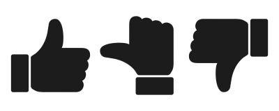 L'évaluation noire manie maladroitement le signe - illustration stock