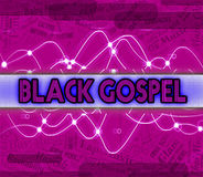 L'évangile représente des pistes audios et acoustique noirs illustration stock