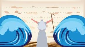 L'évasion d'Egypte. Invitation de pâque illustration stock