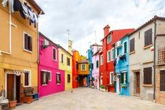 L'île de Burano l'Italie Images libres de droits