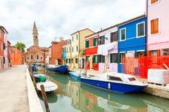 L'île de Burano l'Italie Photos libres de droits