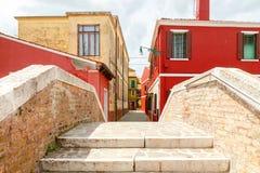 L'île de Burano l'Italie Photographie stock
