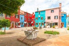 L'île de Burano l'Italie Images stock