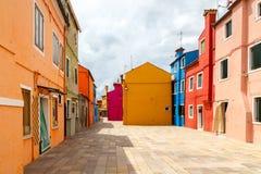 L'île de Burano l'Italie Image stock