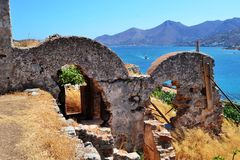 L'île du lépreux de Spinalonga Photo stock