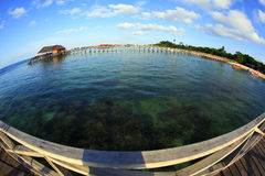 L'île de Mabul va en rond Image libre de droits