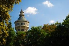 Vieille tour d'eau sur l'île de Margaret, Budapest images libres de droits