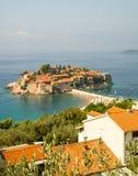 L'île de St Stephen dans Monténégro Photo libre de droits